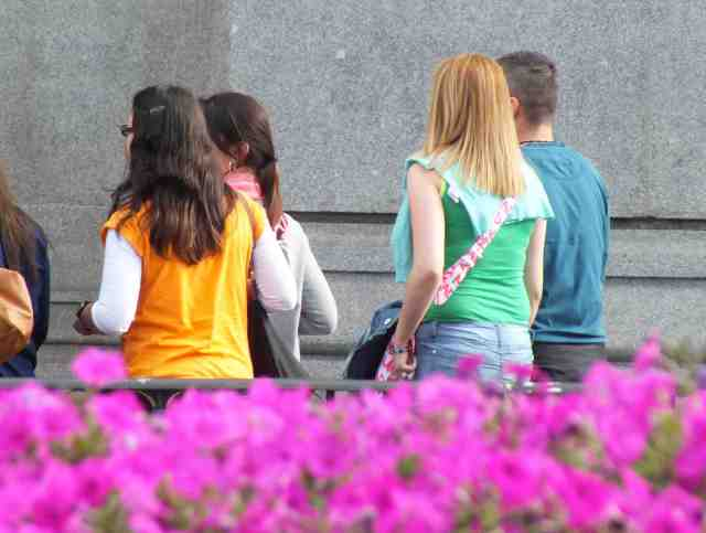 Cuatros turistas